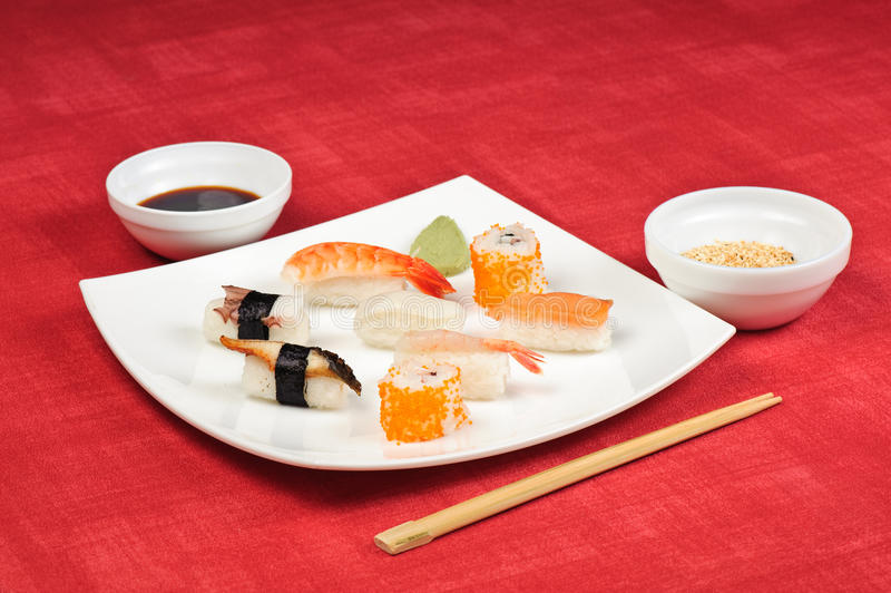 Sushi plate royalty free stock images