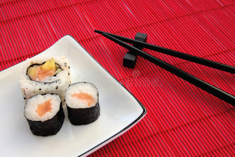 Download Sushi Plate stock photo. Image of dinner, chopsticks, deluxe - 4022360
