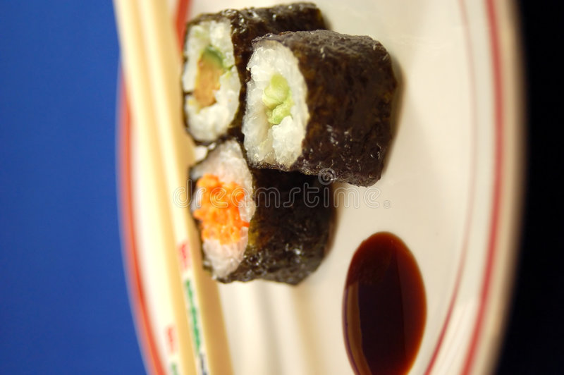Download Sushi Plate Royalty Free Stock Image - Image: 510056