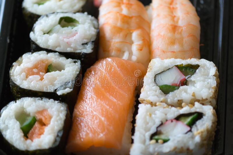 sushi-plate stock photography