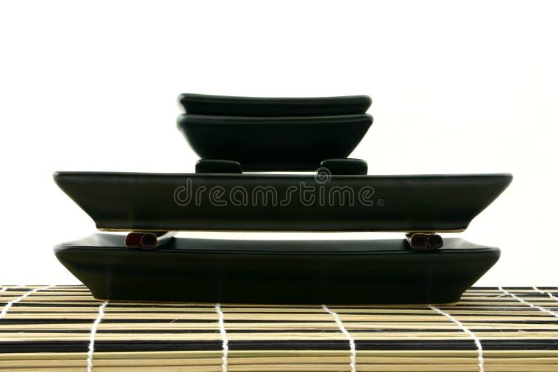 Sushi pyramid stock image