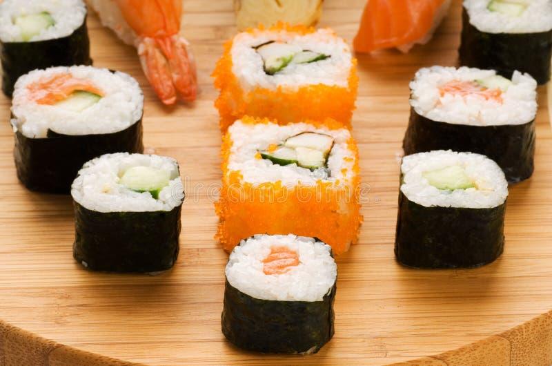 sushi różne rodzaje obraz stock