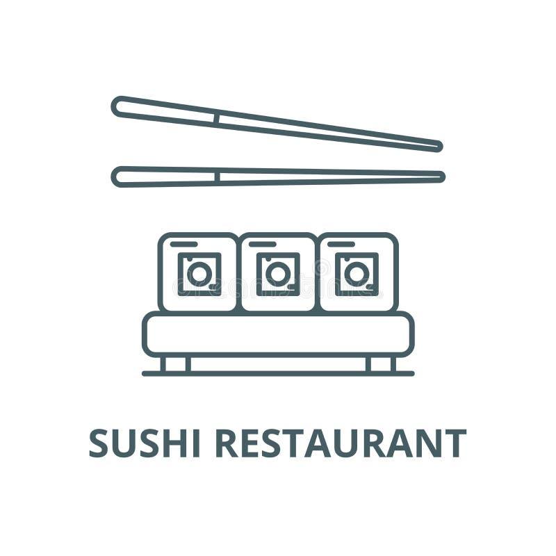 Sushi restaurant vector line icon, linear concept, outline sign, symbol stock illustration