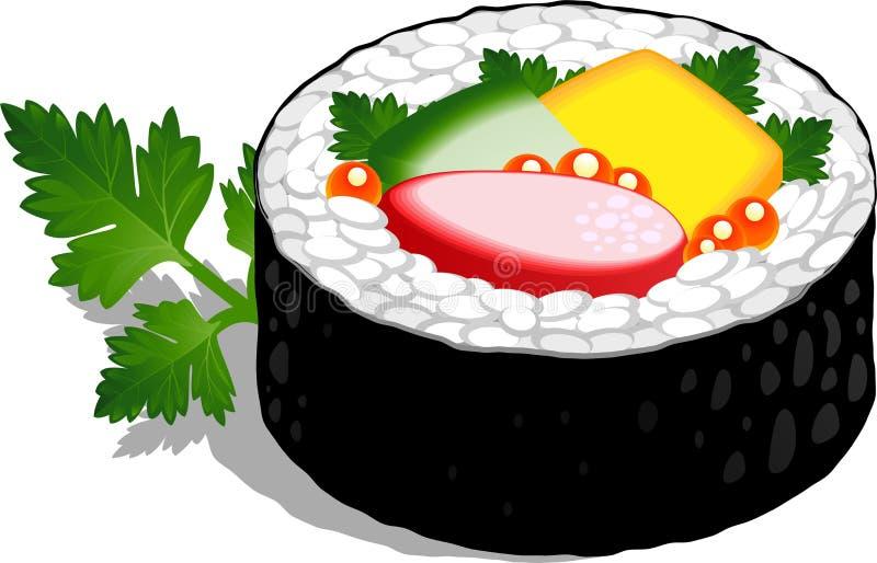 Sushi Roll vector illustration