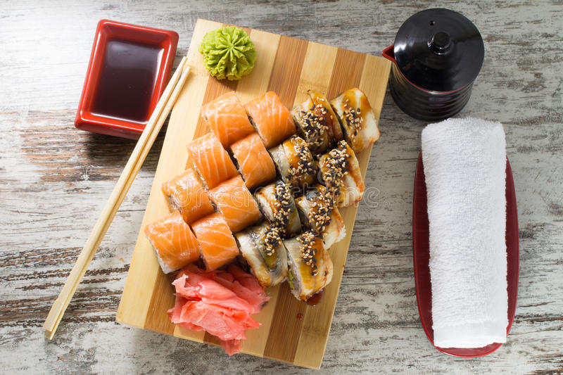Download Sushi roll stock image. Image of roll, dinner, meal, food - 38322831