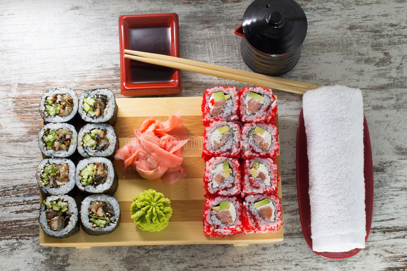 Download Sushi roll stock image. Image of delicacy, isolated, appetizer - 38322853