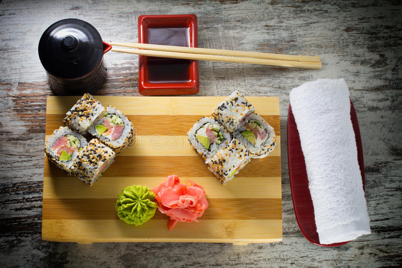 Download Sushi roll stock photo. Image of meal, avocado, maki - 38322872