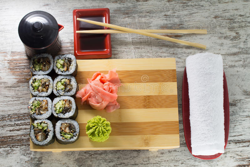 Download Sushi roll stock photo. Image of meal, background, lunch - 38323006
