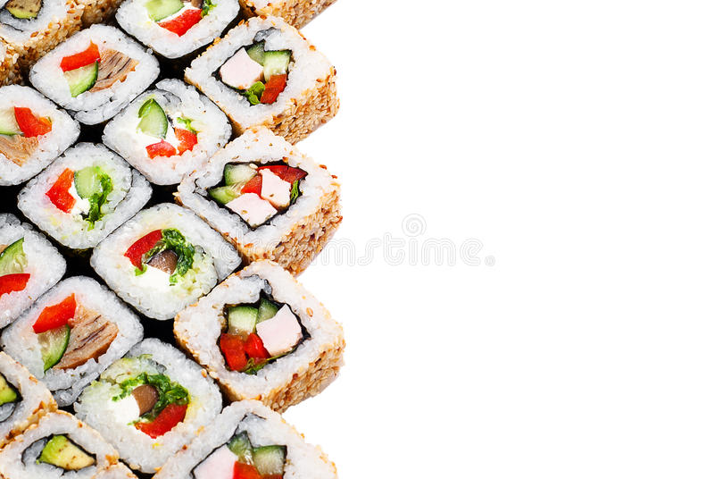 Download Sushi Roll Big Set With Different Components Stock Photo - Image: 27537276