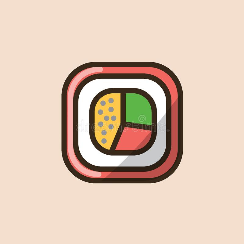 Sushi roll in front view royalty free illustration