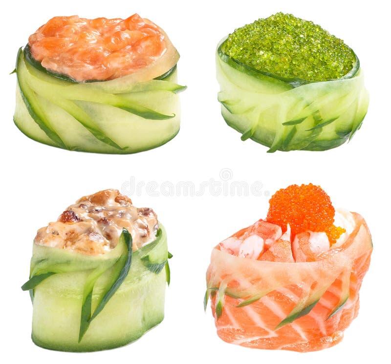 Download Sushi Roll Gunkan Set Royalty Free Stock Image - Image: 27693656