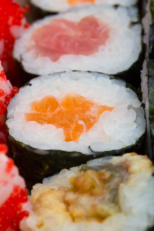 Sushi Roll Made Dish Stock Photography