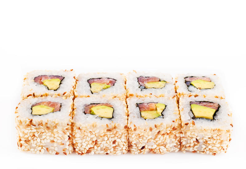 Download Sushi Roll With Tune And Avocado Stock Image - Image: 27444649