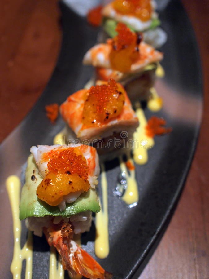 Sushi-Rolle lizenzfreies stockbild