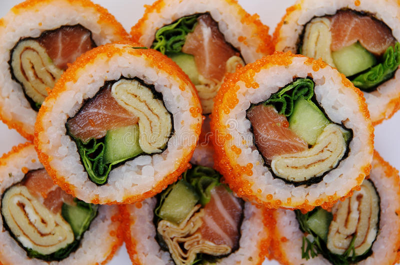 Download Sushi Rolls stock image. Image of lifestyle, board, interior - 13484791