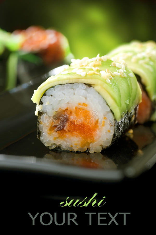 Sushi Rolls stockfotos