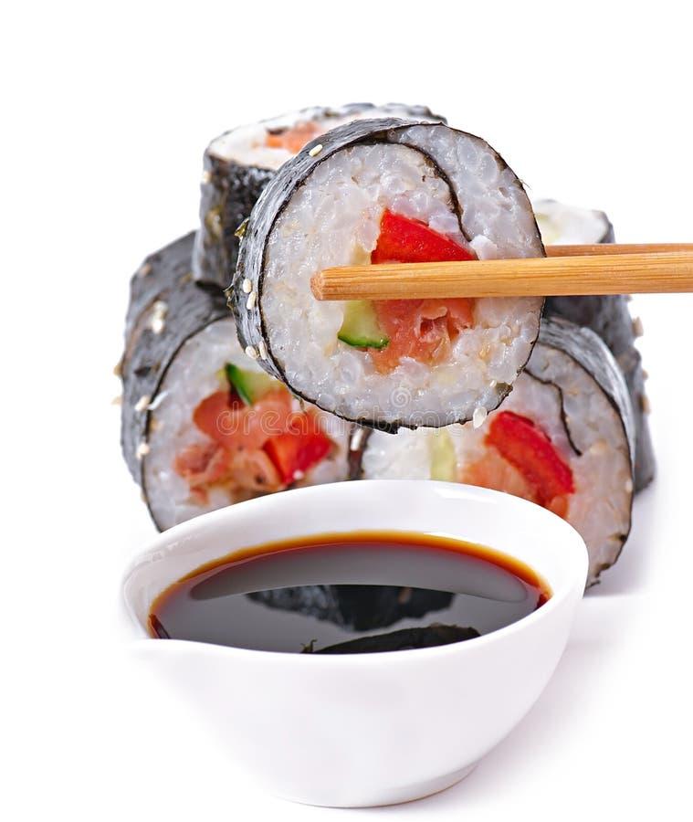 Download Sushi Rolls imagen de archivo. Imagen de aislado, delicioso - 41916869
