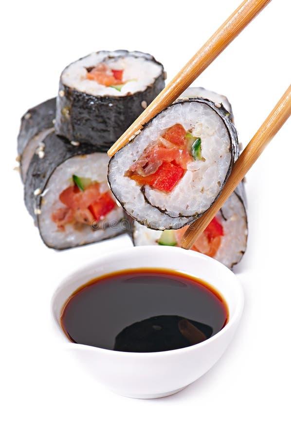Download Sushi Rolls imagen de archivo. Imagen de menú, crema - 41916875