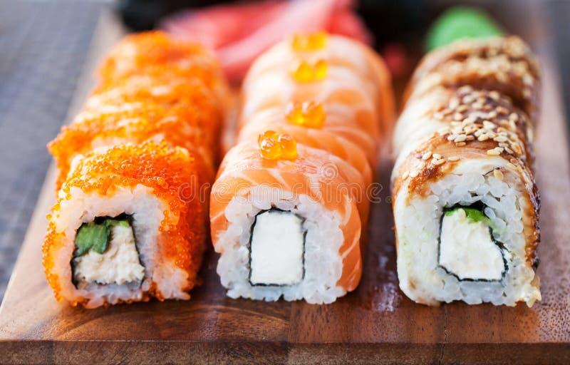 Sushi Rolls imagen de archivo libre de regalías