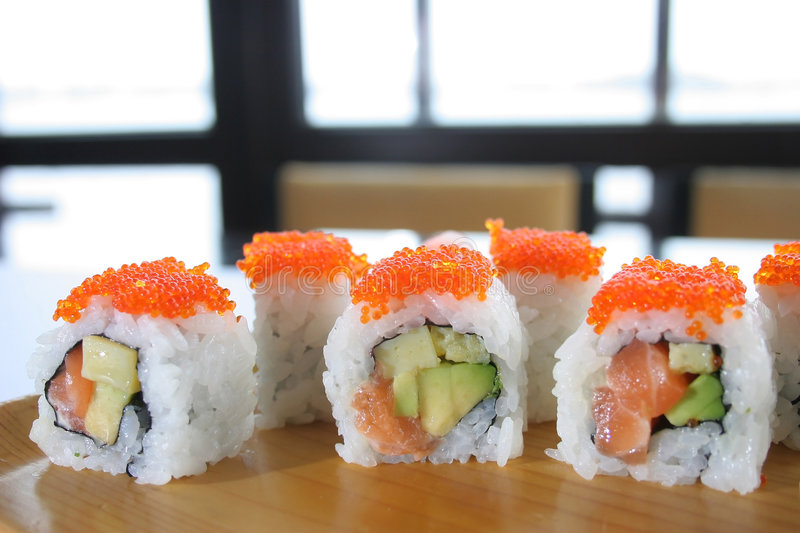 Download Sushi rolls stock photo. Image of plate, dinner, appetizer - 7488070