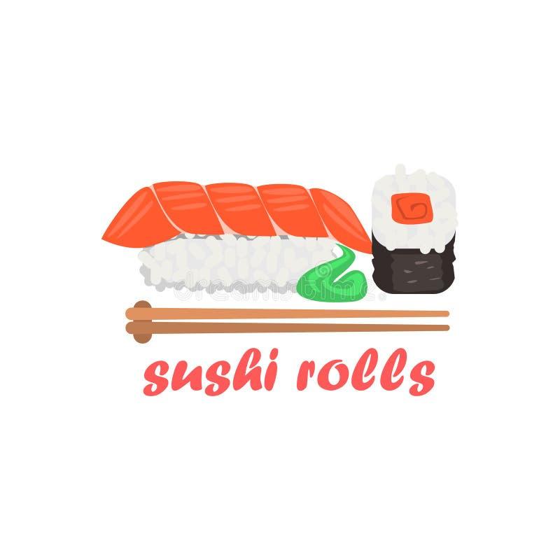 Sushi Rolls Cartoon Style Icon vector illustration
