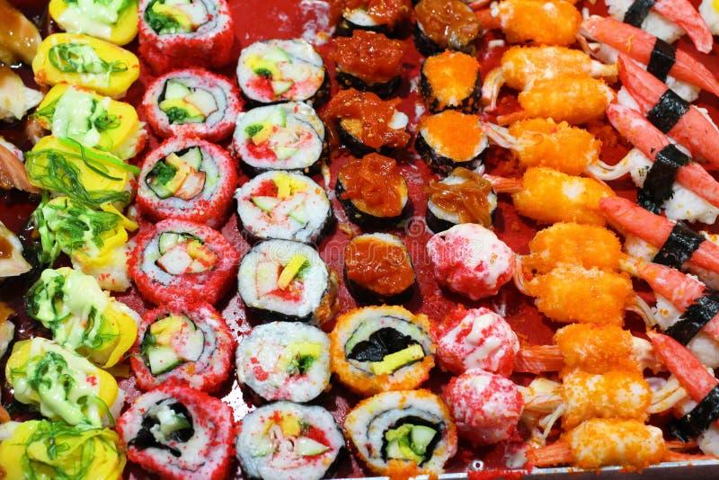 Sushi Rolls japan food, Sushi Rolls Background royalty free stock photos