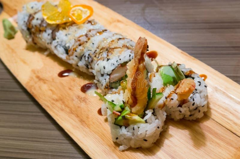 Sushi Rolls royaltyfri foto