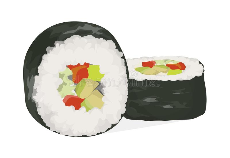 Sushi rolls set. stock illustration