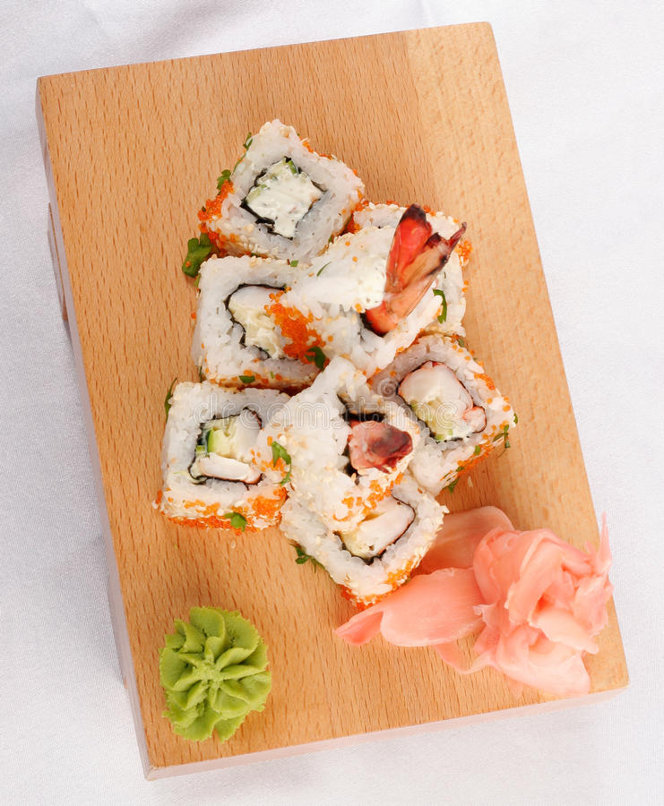 Download Sushi Rolls Wish Shrimp And Caviar Royalty Free Stock Image - Image: 9836006