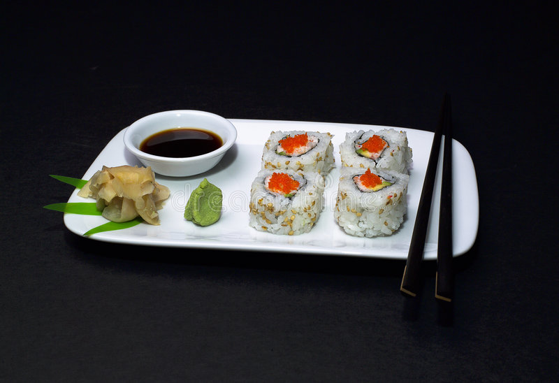 Sushi - roulis de la Californie photo stock