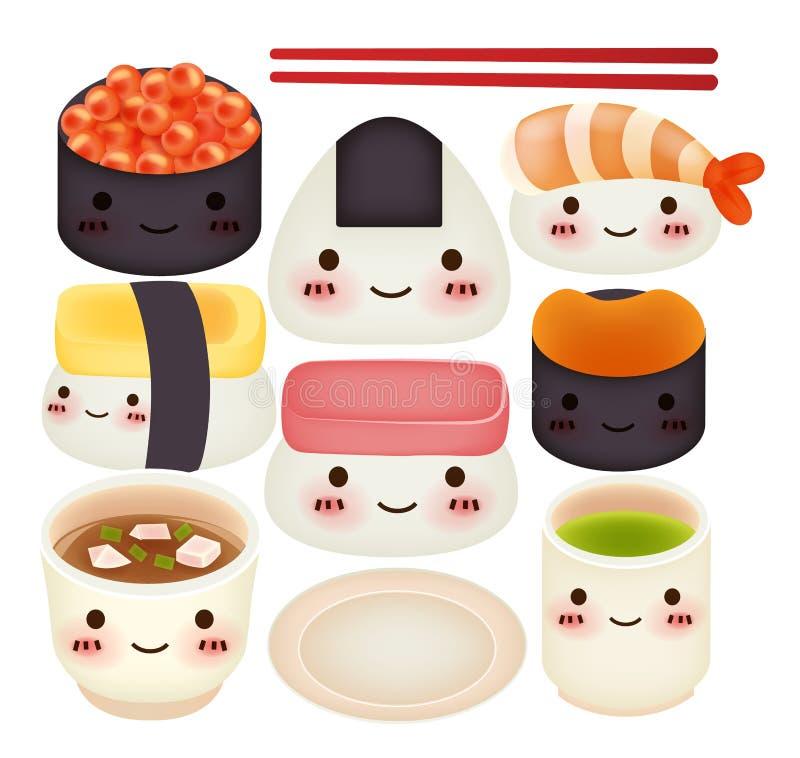 Sushi-Sammlung lizenzfreie abbildung
