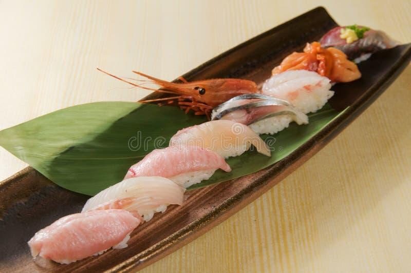 Sushi and sashimi. Japanese sushi and sashimi food royalty free stock photography