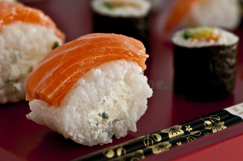 Sushi, sashimi, Japanse keuken Maki. royalty-vrije stock afbeeldingen