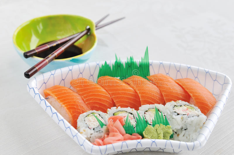 Download Sushi And Sashimi Lunchbox Stock Images - Image: 11820844