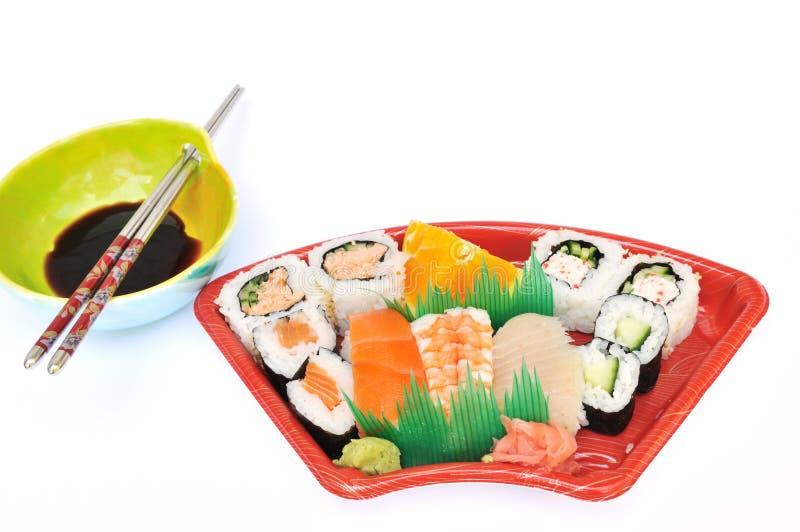 Sushi and Sashimi Lunchbox stock images