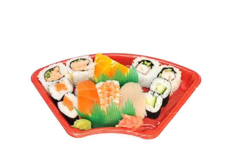 Sushi and Sashimi Lunchbox stock photography