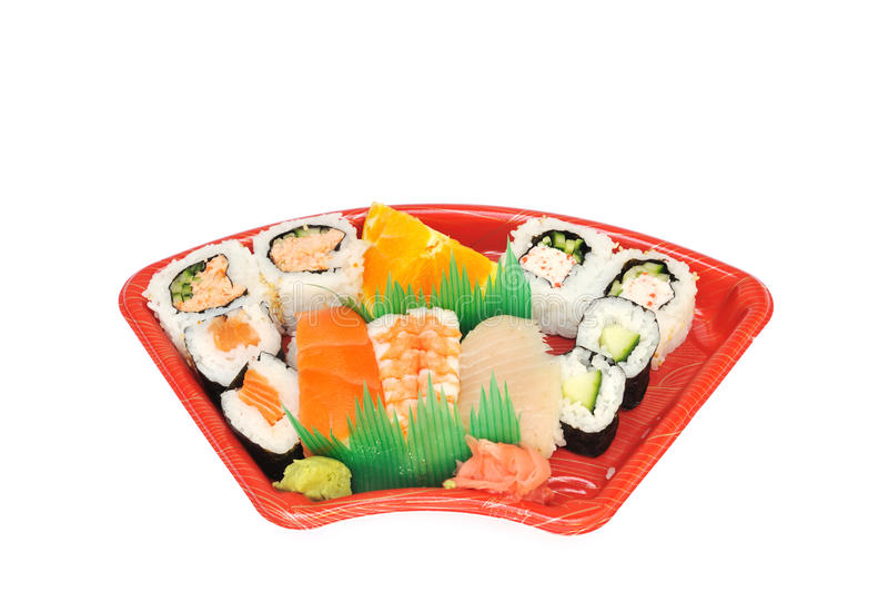 Download Sushi and Sashimi Lunchbox stock photo. Image of rice - 20139012
