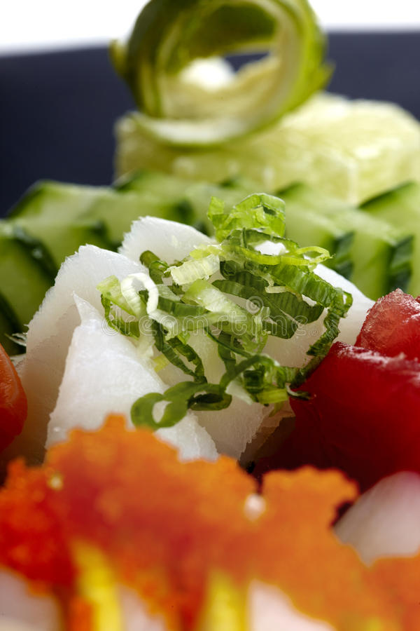 Sushi served on plate royalty free stock image