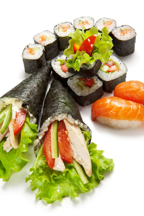 Download Sushi Set stock photo. Image of asian, background, healthy - 16385712