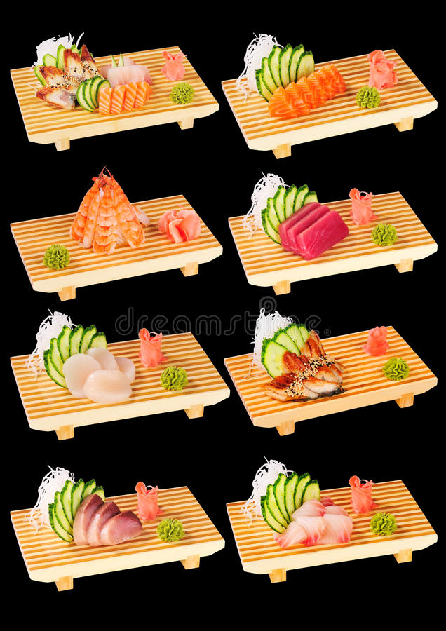 Free Sushi Set Black 2 Royalty Free Stock Images - 18143539
