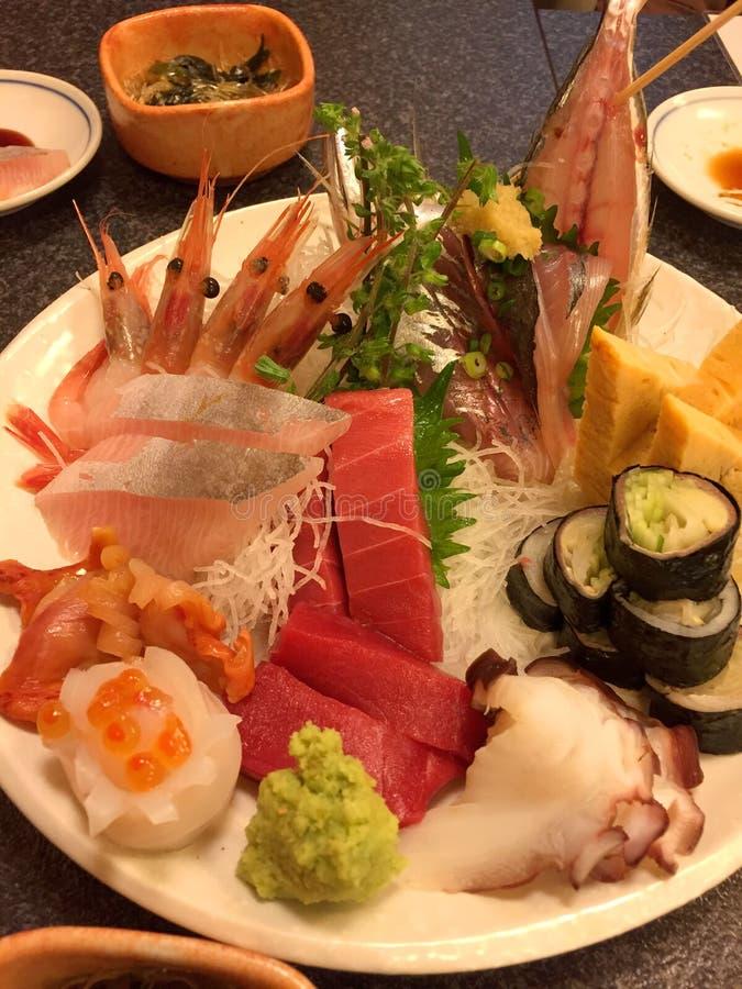 Sushi Set sashimi and sushi rolls royalty free stock photos