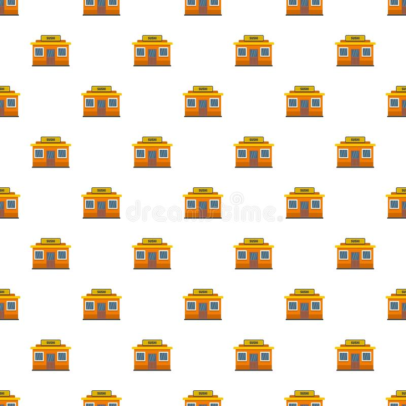 Sushi shop pattern seamless vector vector illustration