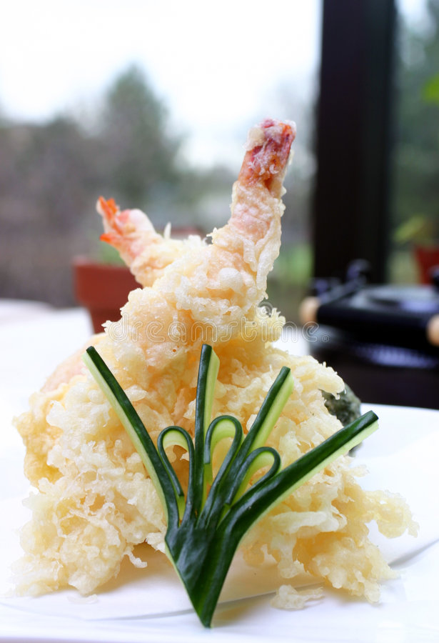 Sushi - Shrimp Tempura royalty free stock images