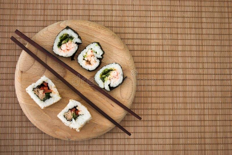 Sushi simple imagen de archivo