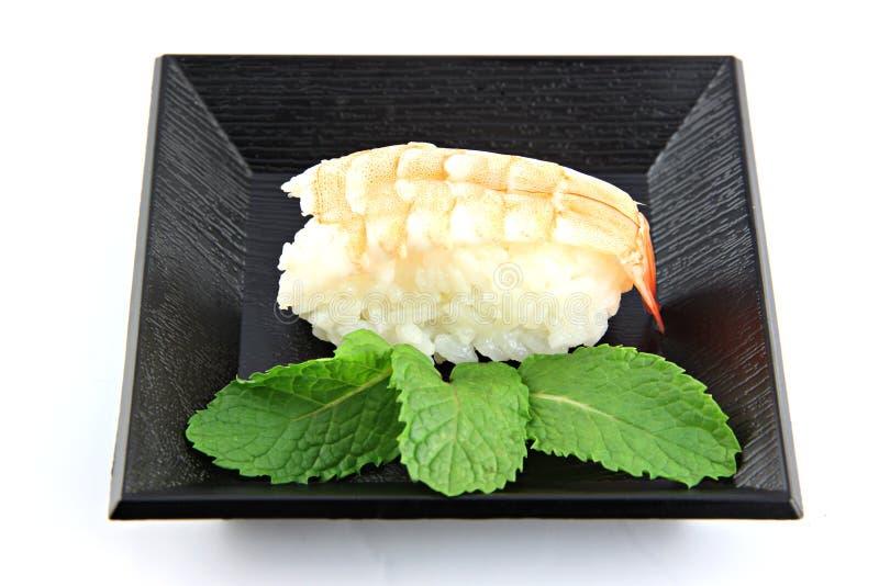 Sushi som göras från räkakött. arkivbild