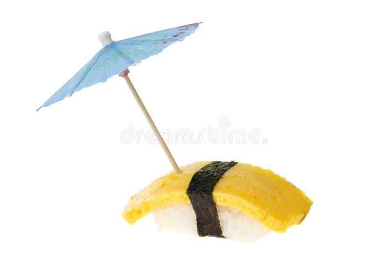 Sushi - Tamago Nigiri stockbilder