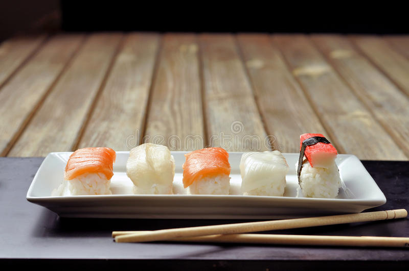 Download Sushi time stock image. Image of surimi, bass, creative - 24124727
