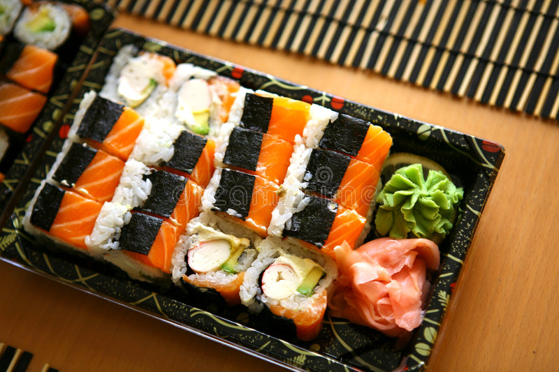 Sushi, traditional japanese food. Sushi, traditional delicious japanese food stock images