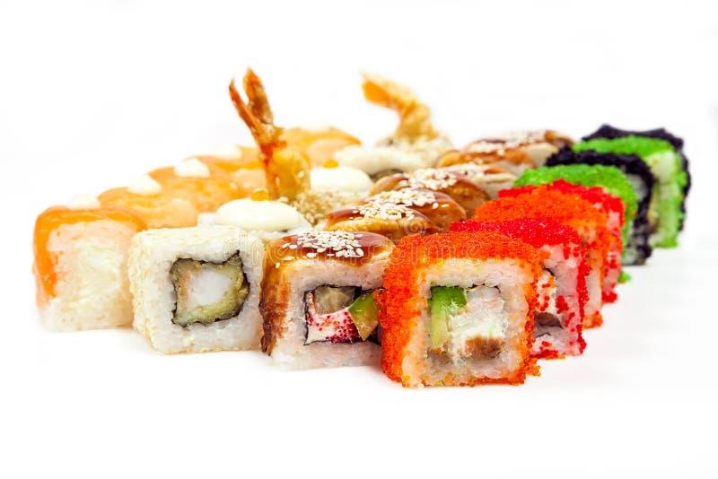 Sushi un insieme immagini stock libere da diritti