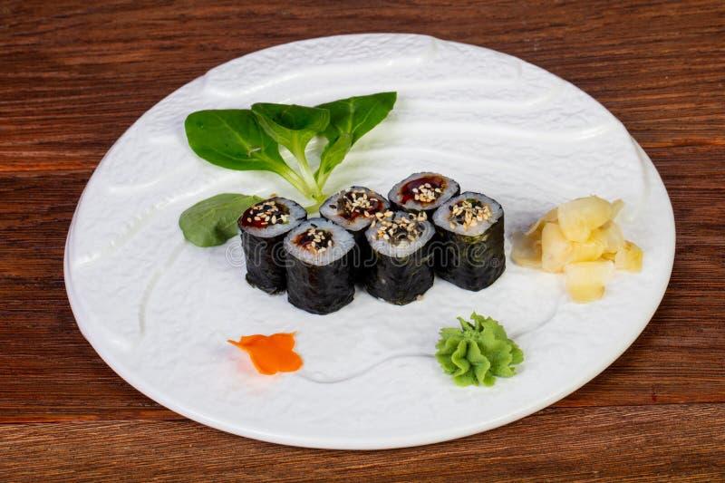Sushi Unagi-maki lizenzfreies stockfoto